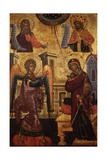 Annunciation with Prophet Isaiah and King David Prints by Onufri Qiprioti