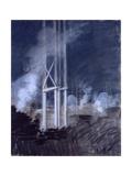 Construction Place (Poles and Smoke in a Building Site) Affiches par Giuseppe De Nittis