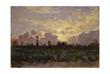 Golden Clouds, (Landscape at Dawn) Posters par Demetrio Cosola