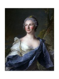 Barbara Luigia D'Adda, Wife of Antonio Barbiano from Belgiojoso Prints by Jean-Marc Nattier