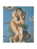 Sistine Chapel, the Last Judgment. a Damned Soul Giclee Print by  Michelangelo Buonarroti