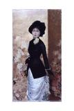 Female Figure (Woman Wearing White Skirt, Black Jacket and Hat) Affiches par Giuseppe De Nittis