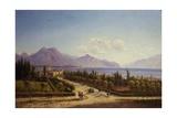 View of the Lake Garda Art by Ercole Calvi