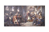 Alliance Oath Between the Venetian Republic and Bishop Giovanni Posters by Giovanni Demin