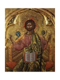 Pantocrator Christ Prints by Onufri Qiprioti