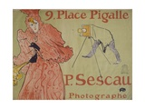 Place Pigalle (Advertisement for Photographer Paul Sescau) Prints by Henri de Toulouse-Lautrec