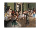 Classe de danse Posters par Edgar Degas
