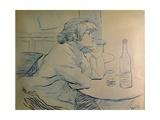 Drinker or a Hangover (French Painter Suzanne Valadon) Posters tekijänä Henri de Toulouse-Lautrec