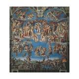 Sistine Chapel, the Last Judgment (Entire View) 高品質プリント : ミケランジェロ・ブオナローティ