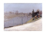 Sunset on the Seine Prints by Giuseppe De Nittis