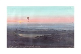 Balloon Ascension in the Roman Countryside at Dawn Prints by Ippolito Caffi