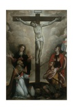 Crucifixion with Virgin and Sts. John, Apollinaris and Vitale Plakater af Francesco Longhi