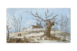 Landscape with Great Mulberry Tree Posters by Giacomo Guardi