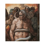 Sistine Chapel, the Last Judgment. Minos, Judge of Hell Giclee Print by  Michelangelo Buonarroti