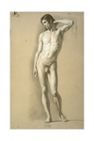 Drawing of Male Nude Standing Art by Carlo Picozzi