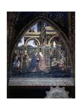 Visitation Poster af Bernardino di Betto Pinturicchio