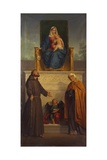 Virgin of Carmel with Saints Anne and Francis Prints by Sebastiano Santi