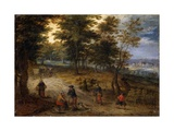 Going at the Market, Artist in Circle of Jan Brueghel the Elder, 1600-1650 Print