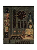Interior of a Church Poster by Louis Vivin