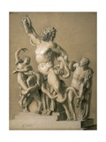 Drawing of the Greek Sculpture Laocoon, 1820 Giclee Print by Santo Trolli