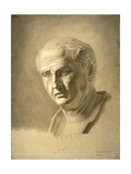 Drawing of Bust of Roman Emperor Vespasian Prints by Carlo Borde