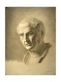 Drawing of Bust of Roman Emperor Vespasian Prints by Carlo Borde