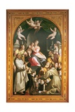 Madonna with Child, with Saints and Zuccari Family Poster by Federico Zuccari