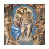 Sistine Chapel, Christ of the Last Judgment Posters by  Michelangelo Buonarroti