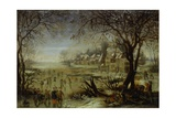 Winter Landscape with Frozen River Posters by Josse de Momper the Younger