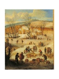 Winter Landscape Giclee Print by Theobald Michau