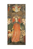 Virgin of Mercy with Angels, Below Christ Enthroned Giclee Print by Bonifacio Bembo