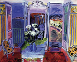 Interior with Open Windows Gicléetryck av Raoul Dufy