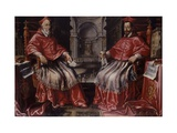 Cardinals Alessandro and Odoardo Farnese,(Before Interior of the Church of Il Gesu, Rome), C. 1624 Poster
