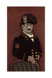 Self Portrait (In Military Uniform) Posters av Orneore Metelli