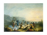 American Indians at Sunrise Breakfast Prints by Alfred Jacob Miller