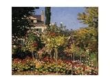 Flowering Garden in Sainte-Adresse Posters by Claude Monet