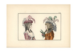 Pouf Hat and Shell Hat in Gauze Giclee Print