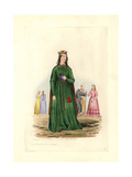 Berengaria, Queen of Richard I (D 1230) Giclée-trykk av Charles Martin