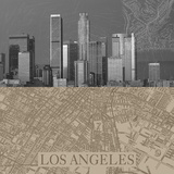 LA Map II Giclee Print