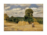 Harvest at Montfoucault Prints by Camille Pissarro