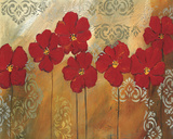 Red Symphony I Giclee Print by Lilian Scott