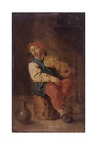 Peasant Violin Player Giclee Print by Adriaen Brouwer