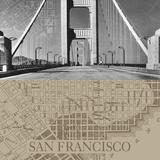San Francisco Map II Giclee Print