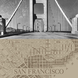 San Francisco Map II Giclee Print by  The Vintage Collection