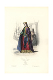 Costumes of French Royalty, after Wilmin, 10th Century Giclee Print