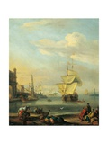 Mediterranean Harbor Prints by Abraham Storck