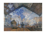 Saint Lazare Station Posters by Claude Monet