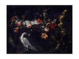 Flowers and Pigeon Prints by Maria Marchetti
