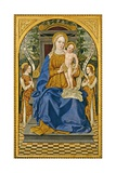 Enthroned Madonna with Child and Two Angels Prints by Bonifacio Bembo