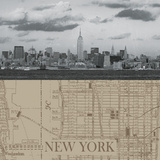 NYC Map II Giclee Print by  The Vintage Collection